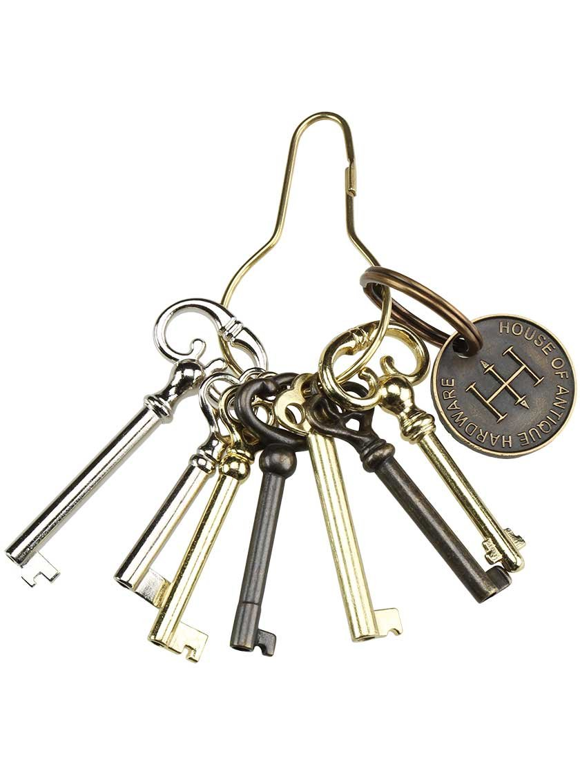 Get Quotations · Ring of 7 Unique Barrel Keys For Cabinet & Furniture Locks. - Cheap Antique Furniture Locks And Keys, Find Antique Furniture Locks