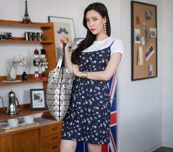 New Summer Casual Korean Style Fashion Woman Sleeveless Floral