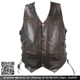 Hot Sale Men Extra Pocket Brown Buffalo Leather Vest