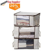 Amazon best sellers Custom Logo Packing Storage Pouch Zipper Durable Electronics Organizer Travel Digital Storage Bag