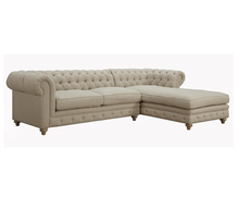 White leather chesterfield sectional sofa design