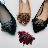 Feathers Jewelry Shoe Clips for women ladies shoes