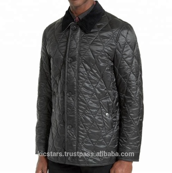 ccad8a29d126 Top Quality 100% Polyester Leather Elbow Patch Quilted Jacket For ...