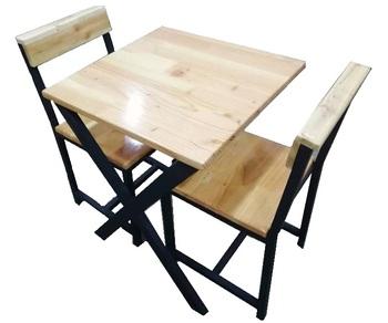2 Places Table Avec Chaise Joint De Doigt De Pin Dalle Buy