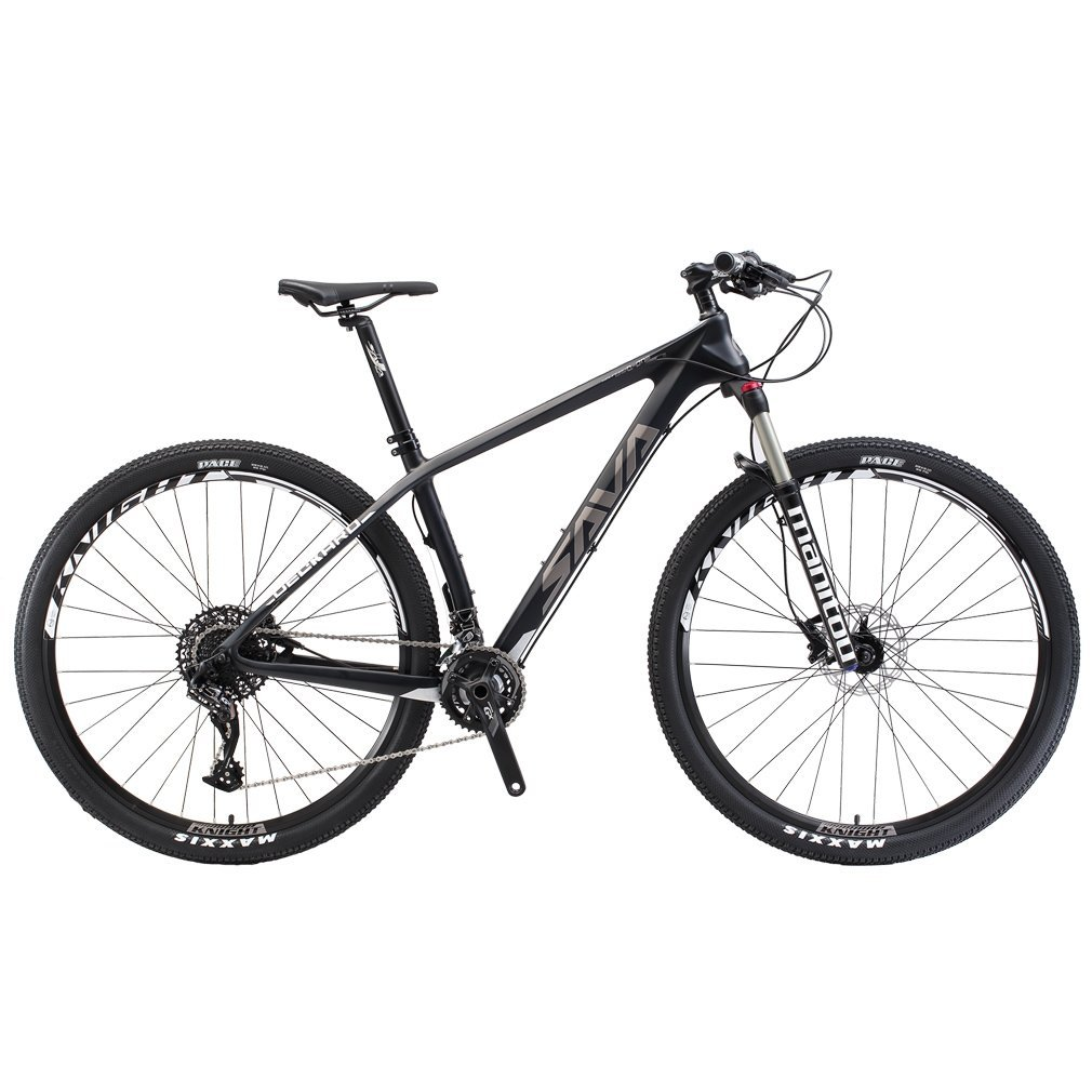"""SAVADECK DECK380 Mountain Bike 29"""" T800 Carbon Fiber Frame Complete Hard Tail MTB Cycle Bicycle with SRAM GX 2 x 11 Speed Group Set"""