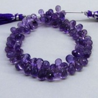 AAA quality Excellent cut Amethyst faceted drops loose beads