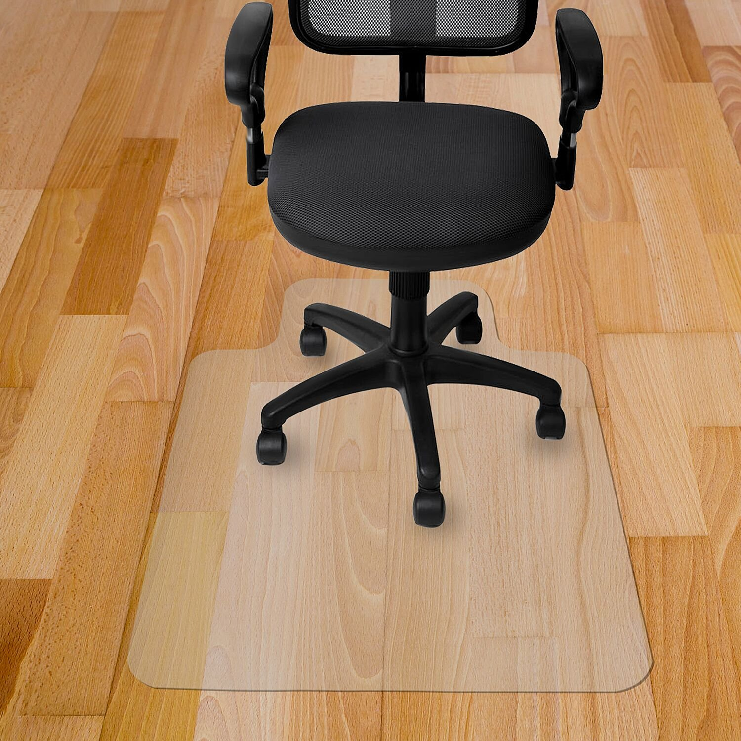 Get Quotations Kuyal Chair Mat 2MM Rolling For Hardwood Floor Transparent PVC Home Office