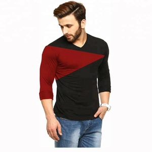 Latest Design Slim fit bodybuilders full sleeve Red & Black TSHIRT Tees