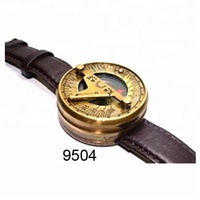Nautical Brass Sundial Compass Wrist Watch Antique