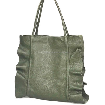Genuine Leather Handbag Made In Italy Shoulder Bag Italian Product Ilaria Gold Bags