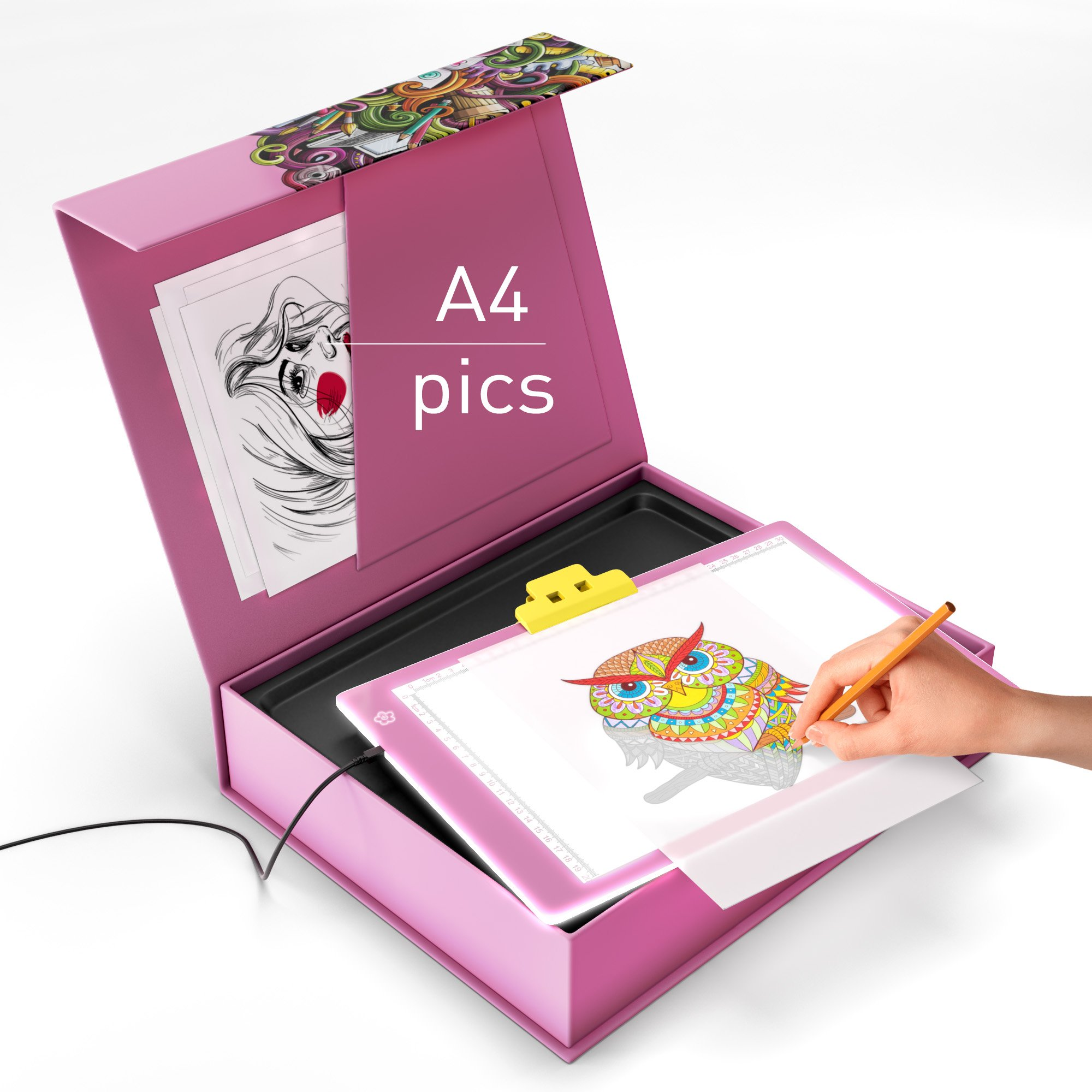 Get Quotations · Light Pad - Tracing Light - Light Table - Tracing Pad -  LED Light Pad -