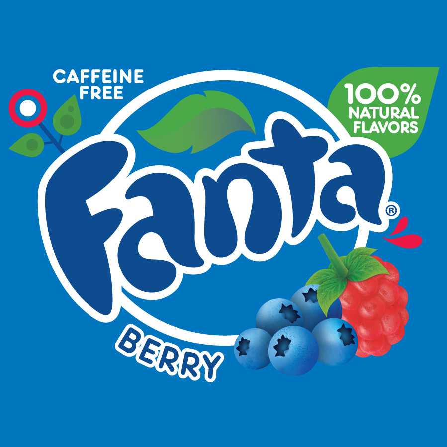 Fanta Carbonated Drink Flavor Berry