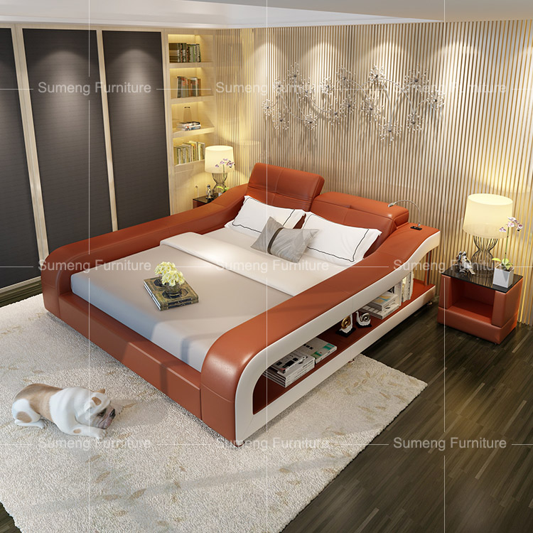 Modern French Styles Best Selling Leather Bedroom Furniture Set With ...