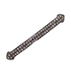 925 Sterling Silver Bar Jewelry Findings Pave Diamond Connectors