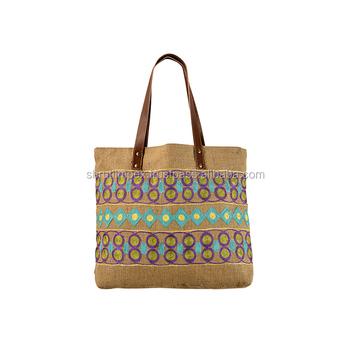 a0866b1b80 Handmade Embroidered Jute Bags Ladies Shopping Handbags - Buy ...