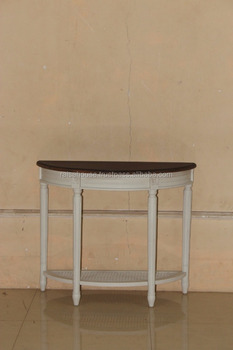 Indonesia Furniture-Wales Demilune Console Table-Jepara Furniture