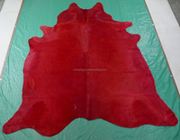 Blood Red Cowhide Upholstery Leather