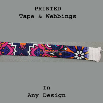PRINTED TAPE WEBBING for bags straps