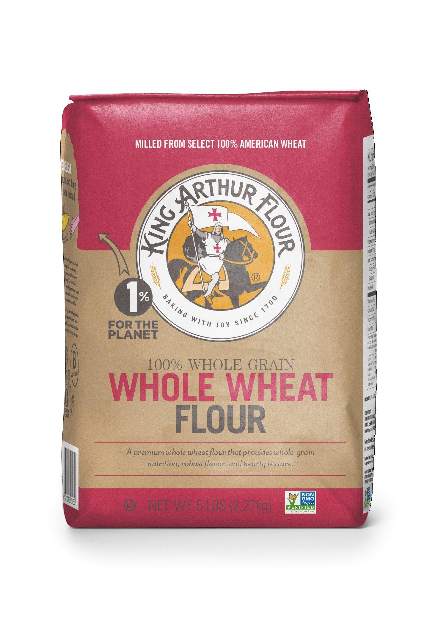 King Arthur Flour Premium 100% Whole Wheat Flour, 5 Pound