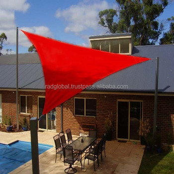 4 2 X 4 2 X 6 0 Meter Right Angle Triangle Red Color Breathable Sun