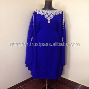 Most fashionable dress abaya high quality moroccan beaded Jalabia kaftan dress