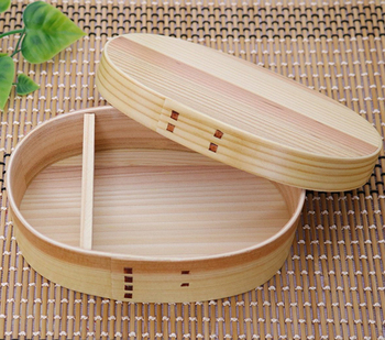 WAPPA Japanese Traditional Wood Lunch Box made of Cedar for Women