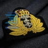 Embroidered Cap Badges,Royal band badge, Hand embroidery bullion wire/ Best Quality Custom Made Hand Embroidered Badges Work