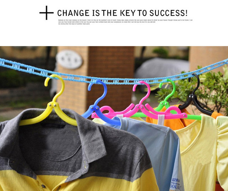 Folding Plastic Hangers With Hooks For Clothes Towel Organizer Laundry Hanger Rack Travel Outdoor And Home Wardrobe Storage Rack