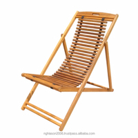 DECK CHAIR WITH WOODEN