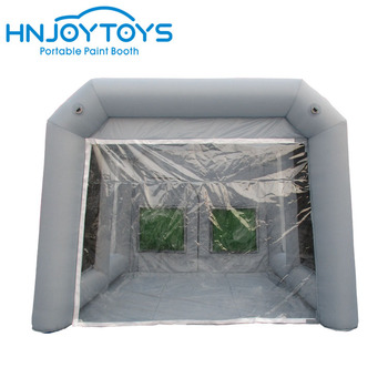 HNJOYTOYS 4x4x3m small car used customized inflatable paint booth with air blowers for hot sale