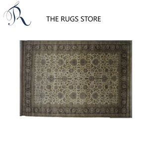 Hand Knotted Wool Pile Camel Color OV-1 Floor Large Carpet And Rug