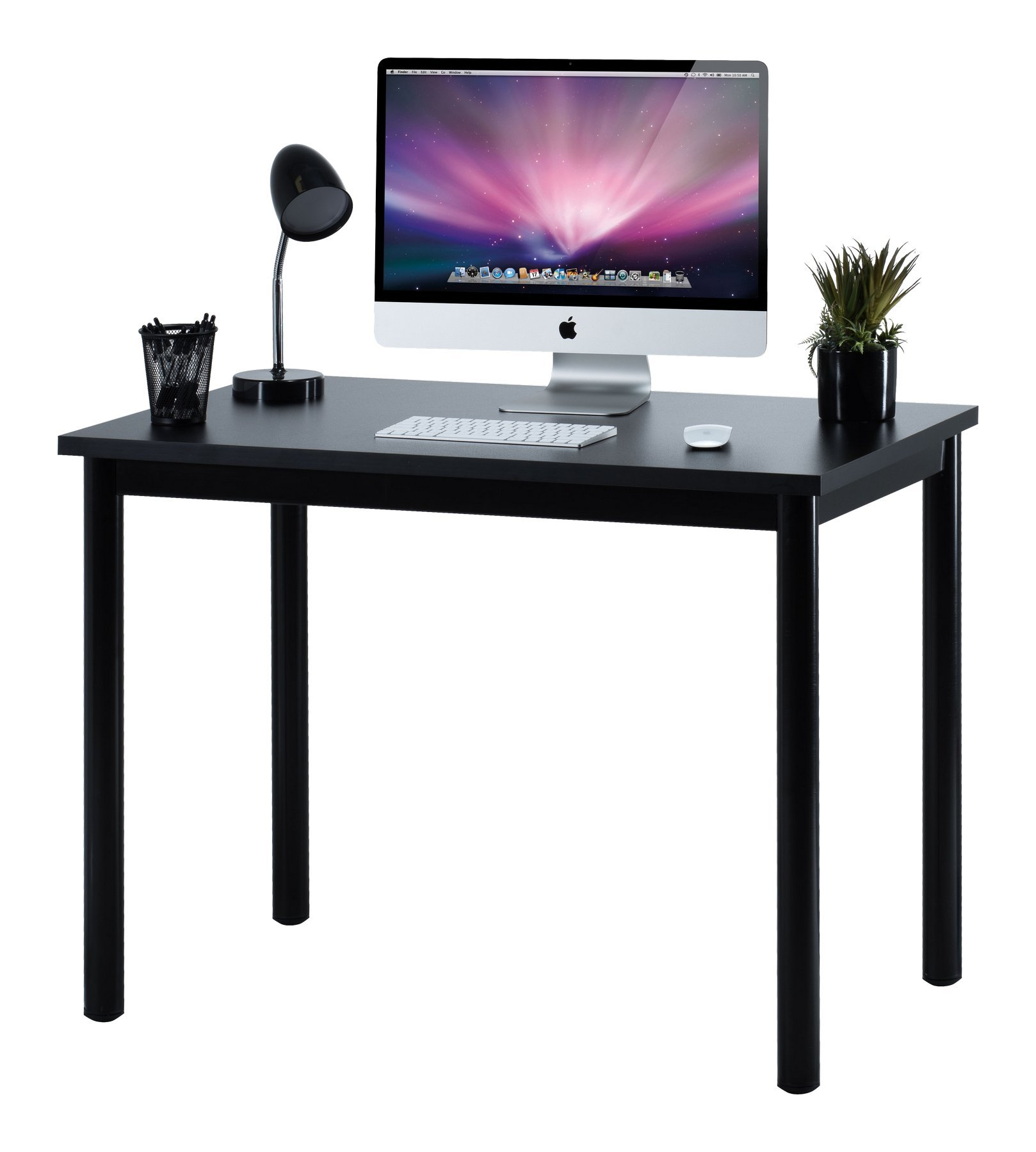 "Fineboard 39"" Home Office Computer Desk Writing Table, Black"