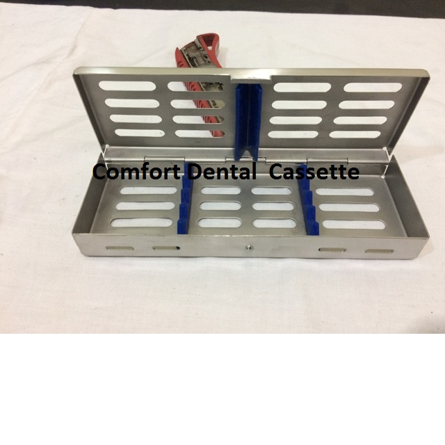 Dental Sterilization Cassette Fixed Lids, Click Lock For 5 instruments