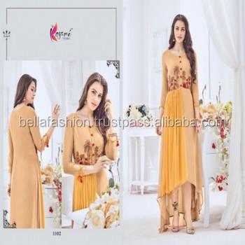 2cd8166f2 Latest Fancy Bollywood Floor Touch Western Designer Special looking Party  Wear Kurtis For Girls Wear Dress