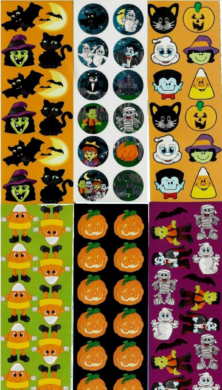 Halloween Sticker Assortment ~ 1200 Stickers per order ~ 4E's Novelty + Bonus 1 sticker sheet