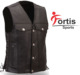 Custom made personalized short winter brown leather suede leather motorcycle vest