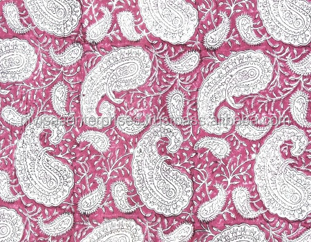 Hand Block Print Fabric 100% Cotton Natural Fabric Running craft Material