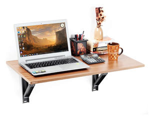 Hemming Folding Wall Mounted Study/Computer/Laptop/Office Table (Walnut)