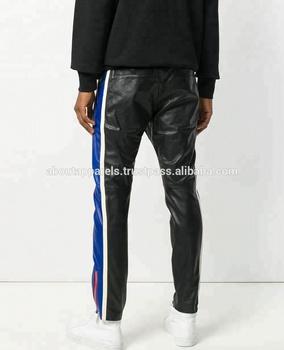 ee76b9f566 Western women skinny high waist tight black red apricot slim PU leather  pants