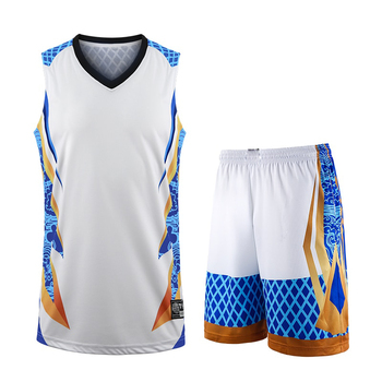 New kids , Adult basketball training jersey set sublimation uniform