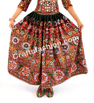 9e78956c51 Rajasthani Readymade kutchi Rabari skirt- Indian Hand Embroidered Rabari  Girl's Skirt- Vintage Gypsy Kutch