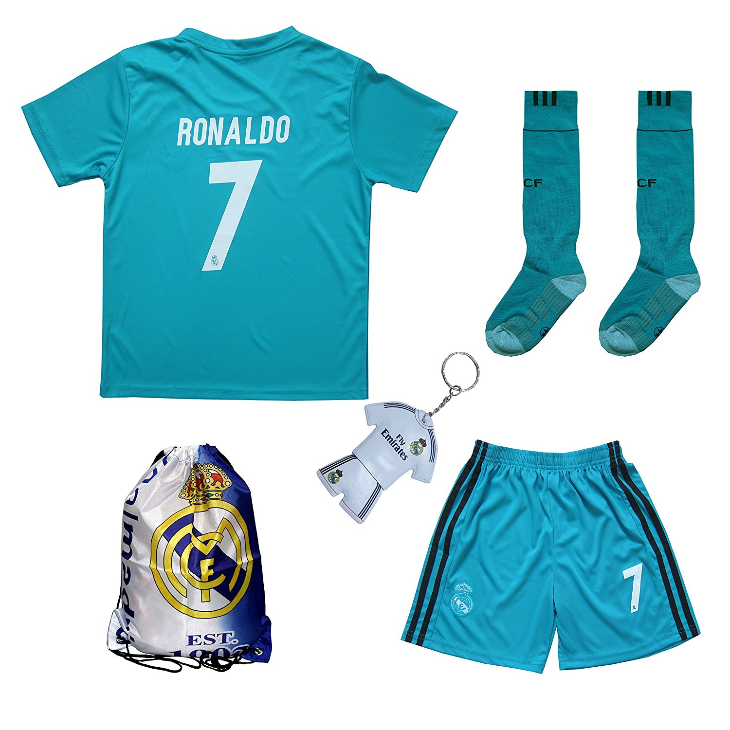 online store 7a447 c232a Buy GamesDur Real Madrid RONALDO #7 Black Dragon Soccer Kids ...