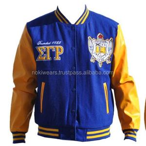 High Quality Custom Greek Letterman Varsity Jackets