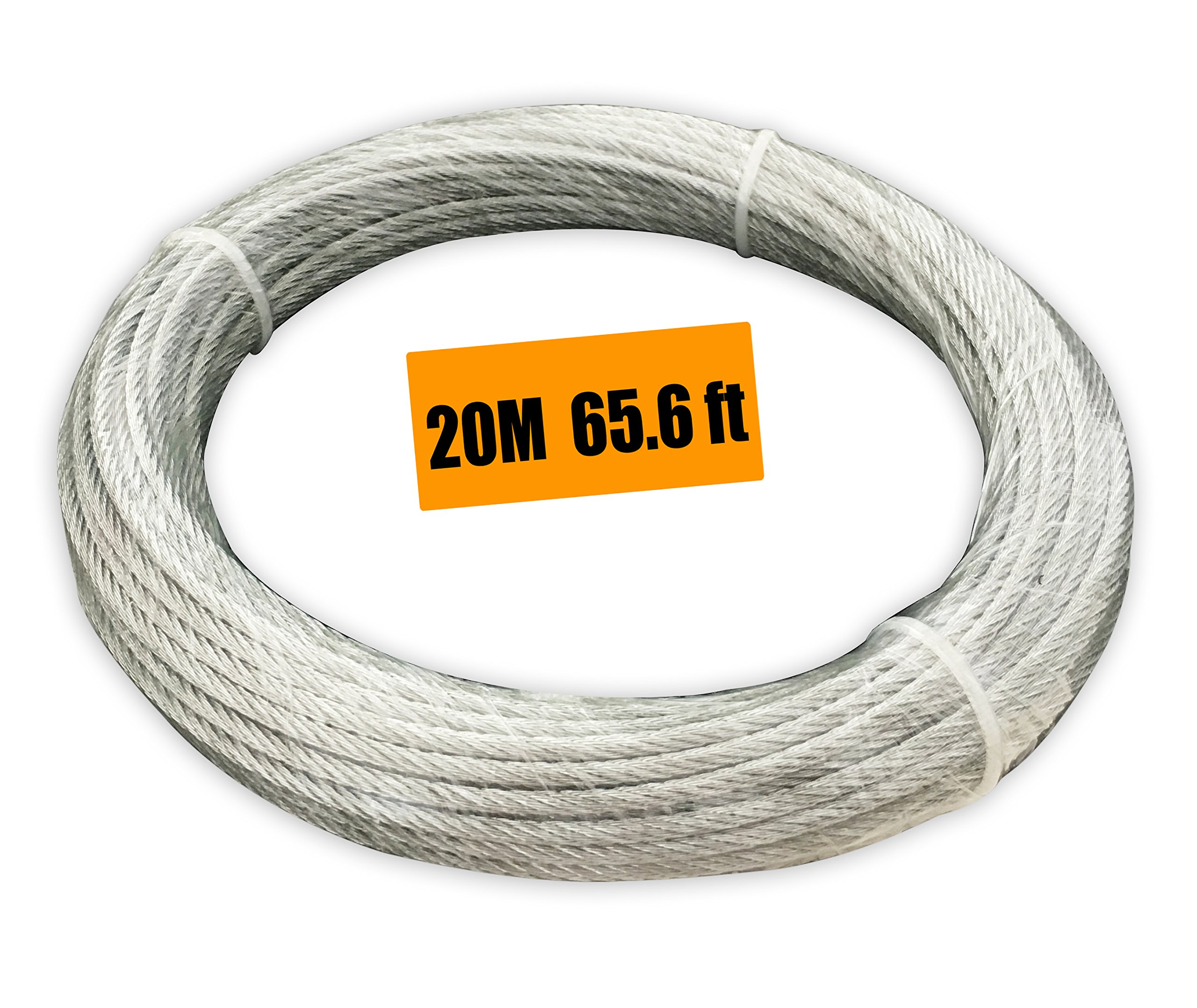 Get Quotations · Muzata Galvanized Wire Rope Aircraft Cable For Railing Decking DIY Balustrade 1