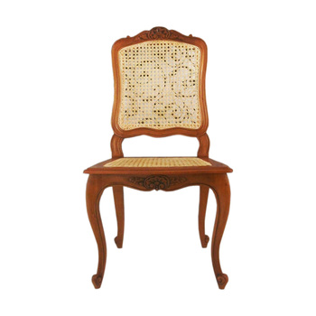 Furniture Wooden Mahogany Classic Style Rattan Dining Chair Hand