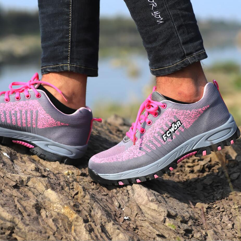 Fashion Girls/women summer permeable safety shoes with steel toe steel plate anti puncture&stick FW-FZ0025