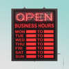 CE Cheap price fashion 70X40cm flashing led shop open closed sign with hours