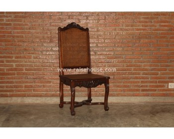 Antique Reproduction Furniture - Regency King Chair Cane Jepara Furniture