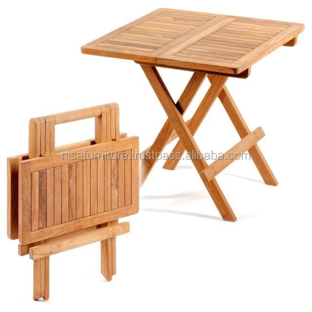 Patio Outdoor Teak Folding Picnic Table