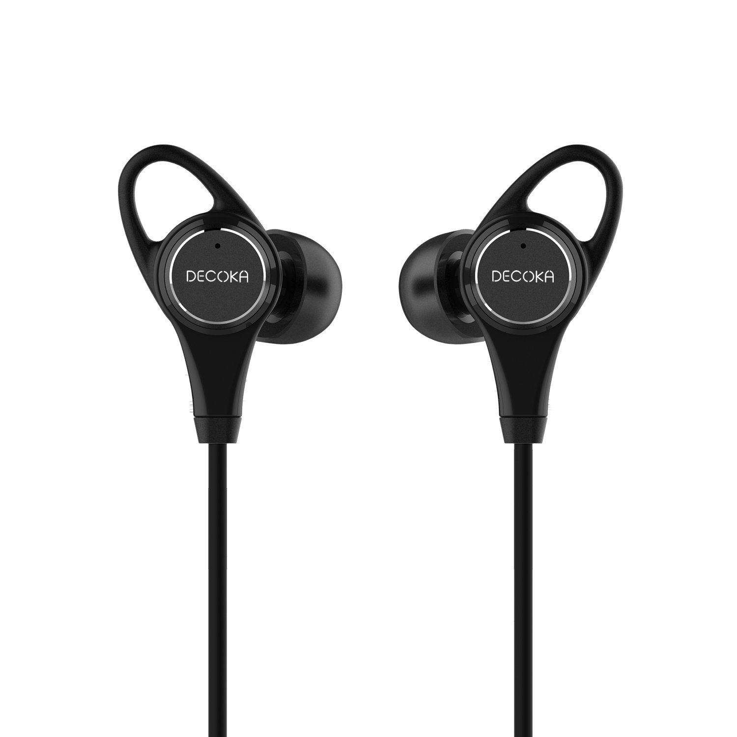 Active Noise Cancelling Headphones, DECOKA in-Ear Wired ANC Earphones with 28dB Noise Reduction, Awareness Monitor Mode, Built-in Mic and Remote Control, 3.5mm Jack, 20 Hours Playtime (Black)
